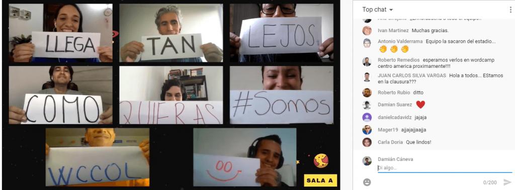 Cierre de la WordCamp Colombia 2020