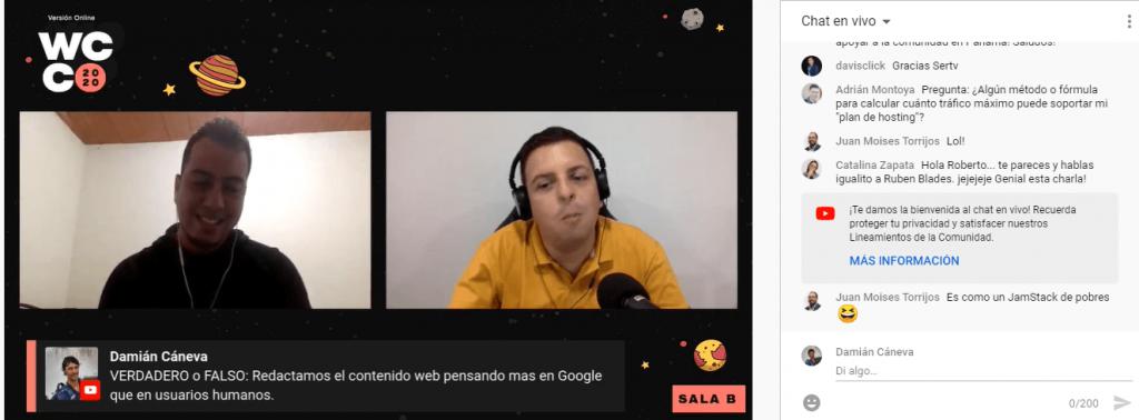 Duberney Ruiz hablando de SEO